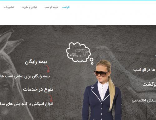 نمونه طراحی وب سایت الو اسب